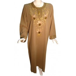 Leyla dress tanned brown...