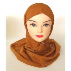 Brown two piece hijab set