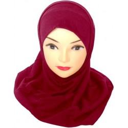 Burgundy two-piece hijab
