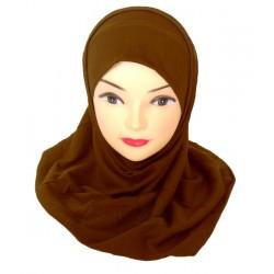 Dark brown two piece hijab