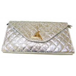 Evening Pouch: Shiny silver...
