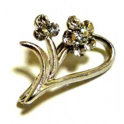 Silver half heart pin...