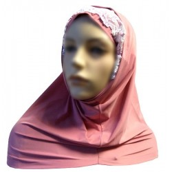 2-piece hijab with lace...
