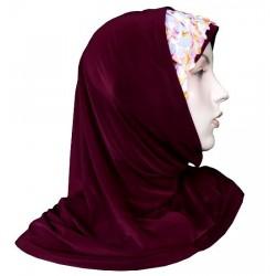 2-piece hijab with flower...