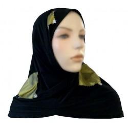 Black 2-piece hijab (tube...