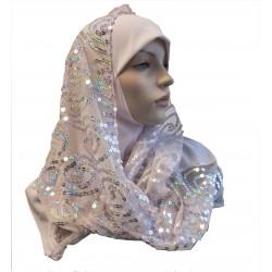Light pink 1 piece hijab...