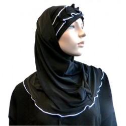 2-piece black hijab with...
