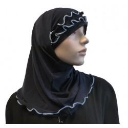 2-piece navy blue hijab...
