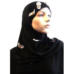 2-piece black hijab...