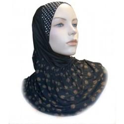 1 piece black pearl hijab...