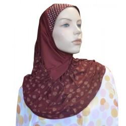 1-piece burgundy hijab...