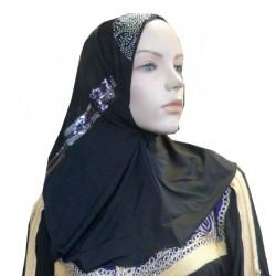 Beaded black hijab at the...