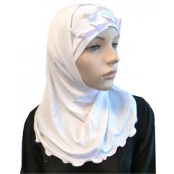 2-piece white hijab with...