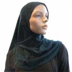 Glitter black hijab in...