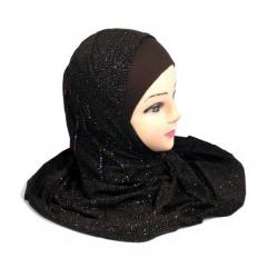 1 piece black glitter hijab...