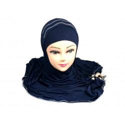 Glittery blue hijab with...