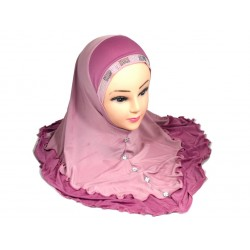 Old pink hijab decorated...