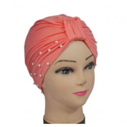 Pink beaded Egyptian hat