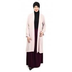 Light pink pleated sleeves...