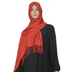 Large shawl in golden red...