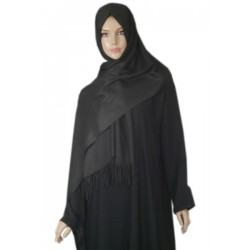 Large shawl in black color...