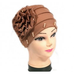Beaded hat with a large...