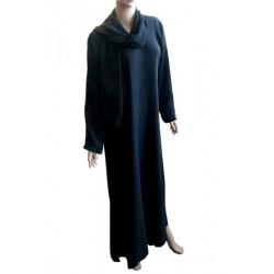 Sober black abaya with...