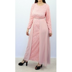Long flared sequined dress...