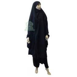 Jilbab cape + harem pants...