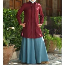 100% cotton pleated tunic -...