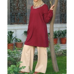 Jersey tunic with...