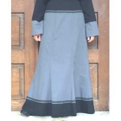Long contrasting skirt 100%...