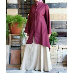 Cotton and silk tunic -...