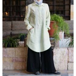 Linen feminine tunic -...