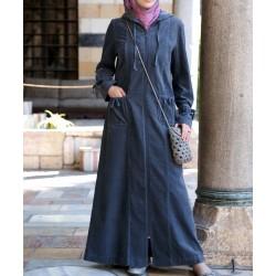 Tunisian corduroy coat -...