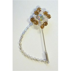 Silver pin for Hijab with...
