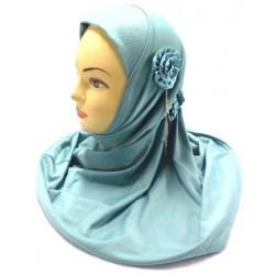 Light gray one-piece hijab...