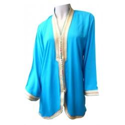Short turquoise blue...