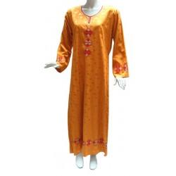 Kawtar orange dress with...