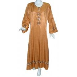 Kawtar dress in brick red...