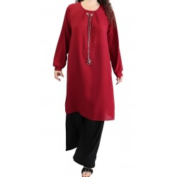 Long tunic adorned with...