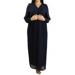 Long pleated dress - Color...