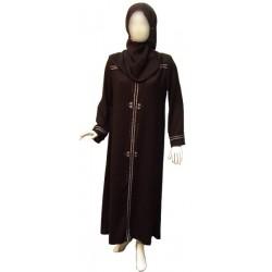Black abaya with silver...