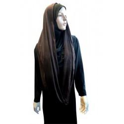 Hijab snood brown color...