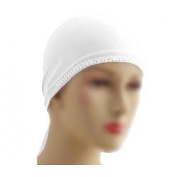 White pearl beanie