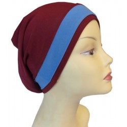 Burgundy dress tube hat...