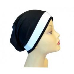 Black dress tube cap with...