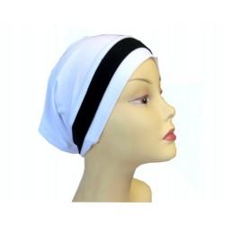 White dress tube cap with...