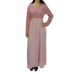 Long evening dress with...