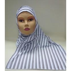 """White """"Assala"""" hijab with..."""